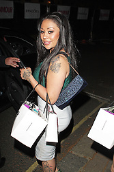 LONDON - June 04: Mutya Buena leaving the Glamour Awards 2013 (Photo by Brett D. Cove) /LNP © Licensed to London News Pictures.