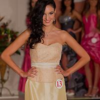 Renata Czinova participates the Miss Hungary beauty contest held in Budapest, Hungary on December 29, 2011. ATTILA VOLGYI