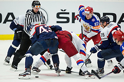 Tomas Surovy of Slovakia vs Yevgeni Malkin of Russia during Ice Hockey match between Slovakia and Russia at Day 10 in Group B of 2015 IIHF World Championship, on May 10, 2015 in CEZ Arena, Ostrava, Czech Republic. Photo by Vid Ponikvar / Sportida