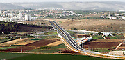 Aerial view of Galam interchange on highway 79 near Kiryat Ata