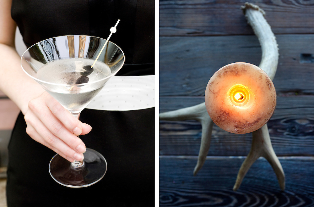 Martini and Antler with candle table setting