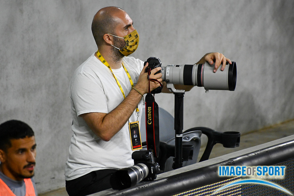 LAFC Photographer Imad Bolotok looks on during a MLS soccer game, Sunday, Sept. 27, 2020, in Los Angeles. The San Jose Earthquakes defeated LAFC 2-1.(Dylan Stewart/Image of Sport)