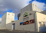 Capisa Grafusa mill factory industrial buildings, Puerto del Rosario, Fuerteventura, Canary Islands, Spain