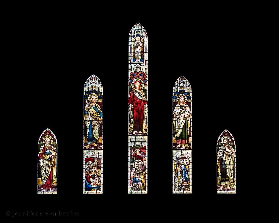 Window 2 on plan.<br /> <br /> St. Saviour's Episcopal Church, Bar Harbor, Maine.