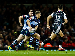 Jarrod Evans of Cardiff Blues<br /> <br /> Photographer Simon King/Replay Images<br /> <br /> Guinness PRO14 Round 21 - Cardiff Blues v Ospreys - Saturday 27th April 2019 - Principality Stadium - Cardiff<br /> <br /> World Copyright © Replay Images . All rights reserved. info@replayimages.co.uk - http://replayimages.co.uk