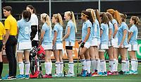 AMSTELVEEN  - finale meisjes oud.    Keizer Karel College-Thorbecke VO R'dam. .  KKC  wint de titel. .  NK Schoolhockey.    COPYRIGHT  KOEN SUYK