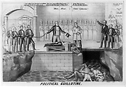Political Guillotine 1850. A cryptic satire critical of Lewis Cass and incumbent President James K. Polk. Henry R. Robinson