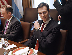 April 27, 2017 - Washington, District of Columbia, United States of America - Senior advisor Jared Kushner  looks on  during a  working luncheon with President Mauricio Macri of Argentina in the Cabinet Room of the White House  in Washington, DC, on April 27, 2017. .Credit: Olivier Douliery / Pool via CNP (Credit Image: © Olivier Douliery/CNP via ZUMA Wire)