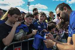 May 13, 2018 - Dublin, Ireland - Leinster's David Kearney signs autographs to fans during the homecoming ceremony at Energia Park, Donnybrook, following their victory in the European Champions Cup Final in Bilbao, Spain..On Sunday, May 13, 2018, in Donnybrook, Dublin, Ireland. (Credit Image: © Artur Widak/NurPhoto via ZUMA Press)