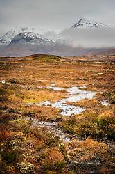 Snow covered mountains on the edge of Rannoch Moor near Glencoe, Scotland<br /> <br /> (c) Andrew Wilson   Edinburgh Elite media