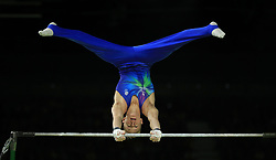 Scotland's Hamish Carter on the Horizontal Bar at the Coomera Indoor Sports Centre during day three of the 2018 Commonwealth Games in the Gold Coast, Australia.