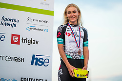 Urska Zigart during medal ceremony Sloveian Road Cycling Championship Time Trial 202, on June 17, 2021 in Koper, Slovenia. Photo by Grega Valancic / Sportida.