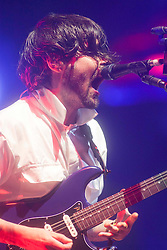 Simon Neil of Biffy Clyro headline Sunday night on the main stage..Sunday at Rockness 2012..©Michael Schofield