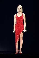 Canadian singer Celine Dion gives a very emotional live performance in concert at the American Airlines Arena in Miami hours after her mother Teresa Dion dies at at age 92. Celine flew to Montreal yesterday where her mother passed away and flew back to Miami in time to perform her Courage Tour. Celine shows off her ripped physique in a red sequence dress. 17 Jan 2020 Pictured: Celine Dion. Photo credit: MEGA TheMegaAgency.com +1 888 505 6342