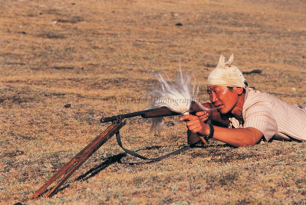 Marmot hunter<br /> Northern Mongolia