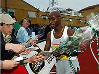 Friidrett, 12 juni 2004, Bergen Bislett Games, Golden League, Bernard Lagat, ,  1500 meter