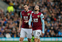 Football - 2019 / 2020 Premier League - Burnley vs. Arsenal<br /> <br /> Chris Wood and Jay Rodriguez of Burnley, at Turf Moor.<br /> <br /> <br /> COLORSPORT/ALAN MARTIN