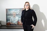 Brussels Belgium 9 December 2019 Magdalena Adamovicz vrouw van de vermoorde burgemeester van Gdansk werd MEP in het Europees Parlement