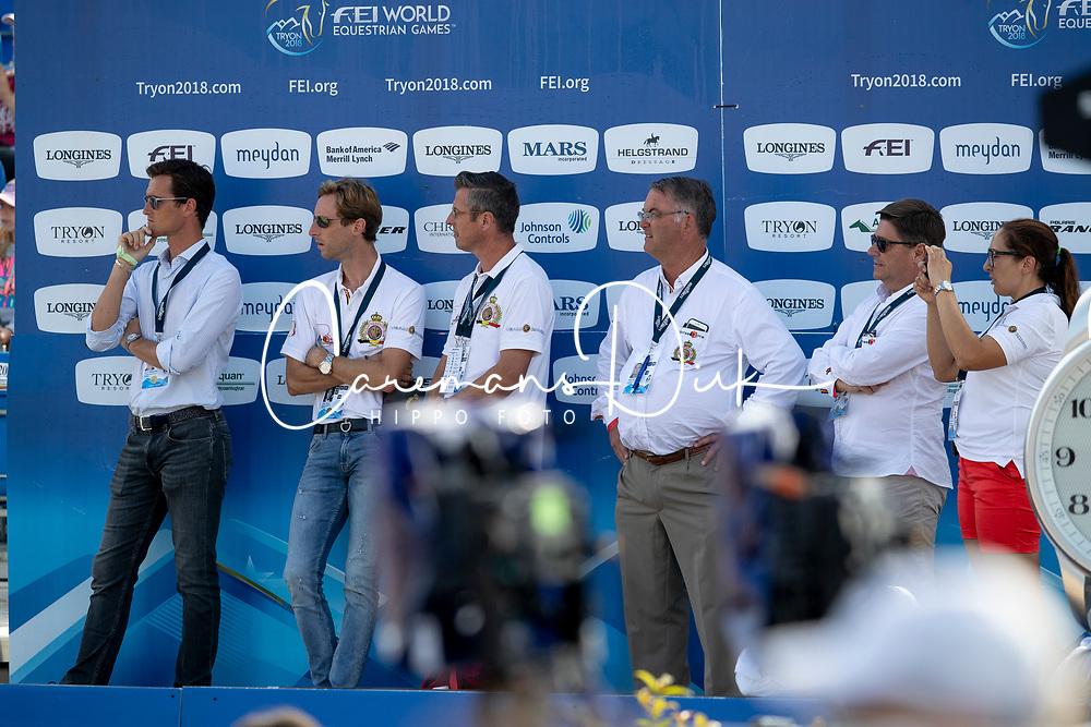 Team belgium, Weinberg Peter, GER, Philippaerts Olivier, BEL, Devos Pieter, BEL<br /> World Equestrian Games - Tryon 2018<br /> © Hippo Foto - Dirk Caremans<br /> 23/09/2018
