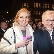 NLD/Amsterdam/20150306 - Boekenbal 2015, Paul Witteman en partner Melinde Kassens