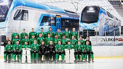 Team HK SZ Olimpija at official photo shooting of HK ZS Olimpija before new ice hockey season 2018/19, on August 29, 2018 in Hala Tivoli, Ljubljana, Slovenia. Photo by Urban Urbanc / Sportida