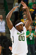 WACO, TX - DECEMBER 9: Royce O'Neale #00 of the Baylor Bears tries to energize the fans against the Texas A&M Aggies on December 9, 2014 at the Ferrell Center in Waco, Texas.  (Photo by Cooper Neill/Getty Images) *** Local Caption *** Royce O'Neale
