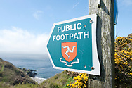 Hiking the Raad ny Foillan coastal path or 'Way of the Gull', Isle of Man © Rudolf Abraham