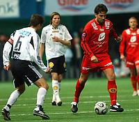 Fotball eliteserien treningskamp Rosenborg - Brann 1-0<br /> Martin Andresen sjefer igjen, her mot Roar Strand<br /> Foto: Carl-Erik Eriksson, Digitalsport