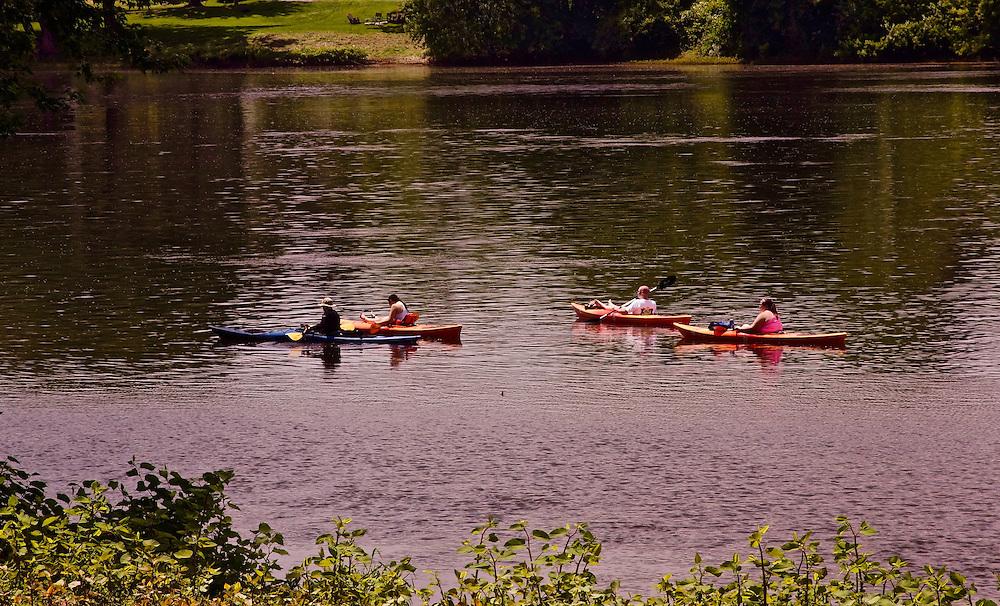 Northcentral Pennsylvania, Kayaks, West Branch, Susquehanna River, Lewisburg, Union County