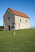 Saxon chapel of St Peter-on-the-Wall, Bradwell-on-Sea, Essex, England
