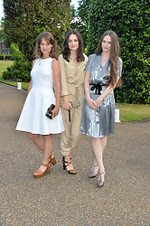 Left to right, The Staves JESSICA STAVELEY, CAMILLA STAVELEY and EMILY STAVELEY at The Ralph Lauren & Vogue Wimbledon Summer Cocktail Party at The Orangery, Kensington Palace, London on 22nd June 2015.  The event is to celebrate ten years of Ralph Lauren as official outfitter to the Championships, Wimbledon.