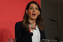 © Licensed to London News Pictures. 18/01/2020. Liverpool. Labour MP and deputy leadership contender Rosena Allin-Khan gestures  at a Labour Party leadership hustings at King's Dock Arena in Liverpool. Photo credit: Ioannis Alexopoulos /  LNP