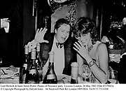 Lord Hesketh & Janet Street-Porter. Pirates of Penzance party. Lyceum. London. 26 May 1982. Film 82379f43a<br />© Copyright Photograph by Dafydd Jones<br />66 Stockwell Park Rd. London SW9 0DA<br />Tel 0171 733 0108