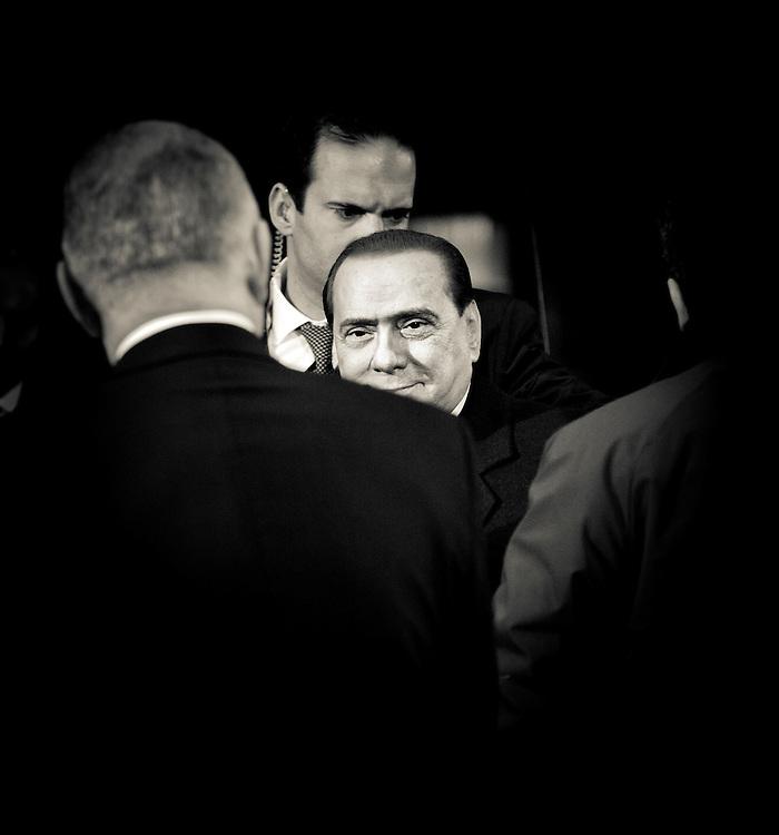 Brussels, Belgium 16 December 2010.Italian Prime Minister Silvio Berlusconi arrives at the European Union leaders summit in Brussels..Photo: SCORPIX /  Ezequiel Scagnetti