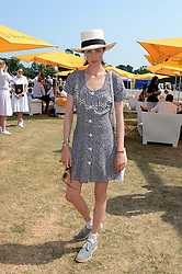 EDIE CAMPBELL at the Veuve Clicquot Gold Cup, Cowdray Park, Midhurst, West Sussex on 21st July 2013.