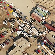 Aerial image of traffic jam in Afghanistan.