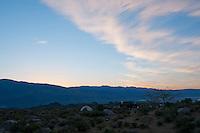 Tuttle Creek campground near Lone Pine, California