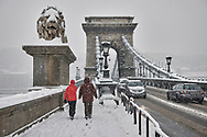 SERIES - UNRLIABLE-SIGHTINGS by PAUL WILLIAMS- Chain Bridge in snow  Budapest