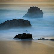 Rugged Big Sur Coast at sunset in California.