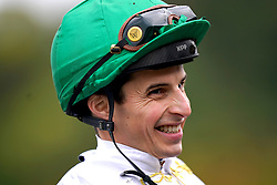 Jockey William Buick is interviewed after winning the Anderson Green Nursery on Zebelle at Nottingham Racecourse. Picture date: Wednesday October 13, 2021.