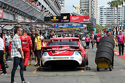 October 21, 2018 - Gold Coast, QLD, U.S. - GOLD COAST, QLD - OCTOBER 21: Pit area at The 2018 Vodafone Supercar Gold Coast 600 in Queensland, Australia. (Photo by Speed Media/Icon Sportswire) (Credit Image: © Speed Media/Icon SMI via ZUMA Press)