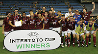 Fotball<br /> Intertoto-Cup finale 2005/2006<br /> Foto: Witters/Digitalsport<br /> NORWAY ONLY<br /> <br /> v.l. Wicky, Van Buyten, Mpenza, Jarolim, dahinter Kucukovic, Mahdavikia, dahinter Demel, Van der Vaart dahinter Waechter, Boulahrouz, Atouba, Takahara, Trochowski, Lauth,Laas, Klingbeil, dahinter Barbarez, Beinlich, Reinhardt<br /> <br /> UI-Cup 2. Finale FC Valencia - Hamburger SV 0:0