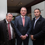 08.12.2016                   <br /> Pictured at the launch of the Shannon Airport Christmas Racing Festival at Hunt Museum were, Fergal Deegan, Brendan Ring and TJ Ryan. Picture: Alan Place
