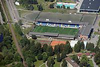 Marienlyst stadion i Drammen. Hjemmebanen til Strømsgodset.<br /> Flyfoto / Arena / Aerial Photo Drammen, 29. juli 2008.<br /> Foto: Peter Tubaas/Digitalsport