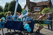 Catsfield Boat Race, raising money for the St. Michael's hospice.  Catsfield, Nr. Battle, East Sussex. 18 September 2016
