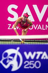 PORTOROZ, SLOVENIA - SEPTEMBER 15: Andreja Klepac of Slovenia competes during the 2nd Round of WTA 250 Zavarovalnica Sava Portoroz at SRC Marina, on September 15, 2021 in Portoroz / Portorose, Slovenia. Photo by Matic Klansek Velej / Sportida