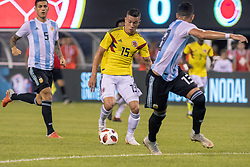 September 11, 2018 - East Rutherford, NJ, U.S. - EAST RUTHERFORD, NJ - SEPTEMBER 11: Colombia midfielder Mateus Uribe (15) controls the ball during the second half of the International Friendly Soccer match between Argentina and Colombia on September 11, 2018 at MetLife Stadium in East Rutherford, NJ. (Photo by John Jones/Icon Sportswire) (Credit Image: © John Jones/Icon SMI via ZUMA Press)