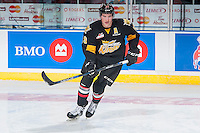 KELOWNA, CANADA - NOVEMBER 9: Nolan Patrick #21 of Team WHL warms up against the Team Russia on November 9, 2015 during game 1 of the Canada Russia Super Series at Prospera Place in Kelowna, British Columbia, Canada.  (Photo by Marissa Baecker/Western Hockey League)  *** Local Caption *** Nolan Patrick;