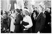 Sir Nigel Clark and Lady Clark/Campbell's wedding, St. Michael's, 14.4.84© Copyright Photograph by Dafydd Jones 66 Stockwell Park Rd. London SW9 0DA Tel 020 7733 0108 www.dafjones.com