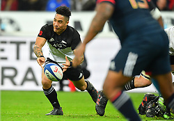 New Zeland 's Aaron Smith during a rugby union international match at Stade de France stadium in Saint Denis, outside Paris, France, Saturday, Nov. 11, 2017Photo by Christian<br /> Liewig/ABACAPRESS.COM